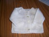 Hand Knitted Newborn Cardigan