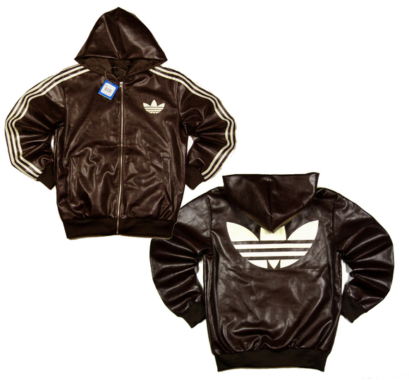 leather jacket adidas