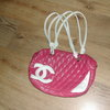 CHANEL pink padded bag
