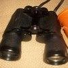 vintage boots binoculars