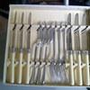 A 6 piece, vintage dessert cutlery set