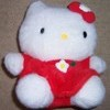 Hello Kitty Plush Toy (in red dress)