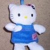 Hello Kitty Small Plush Toy (in blue dress)