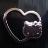 Hello Kitty metal clip/keyring