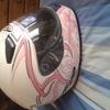 nitro girls pink helmet