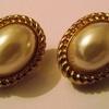 Vintage  Pearl  Studs