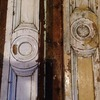 Wooden door mouldings, I think oak.