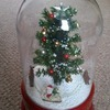 Snow Dome Revolving Santa on sleigh with Music Lights and Falling Snow Christmas