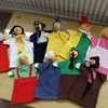 WOODEN HEAD CHARACTER HAND PUPPETS