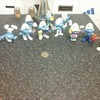 collection of model smurfs,11 in total