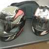 Two nice lids and a medium leather bike jacket