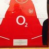 signed arsenal Thierry Henry t-shirt