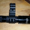 Police tactical torch with rifle mount