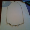 lovely  18l gold with diamonds necklace