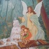"""Guardian Angel Prayer"" Painting: Karvajal original from South America"