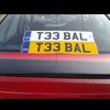T33 BAL, private plate