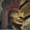 Native American golden eagle war bonnet