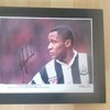 12x10 Signed Mounted  Les Ferdinand Newcastle Utd