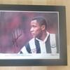 12x10 Signed Mounted  Les Ferdinand Newcastle Utd
