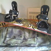 burton snowboard, boots, new helmet and holdall