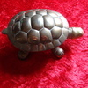 large brass tortoise with lift up shell