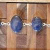 Lapis Lazuli gemstone cluster bracelet