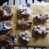 a nice mix of small teddys