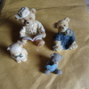 4 nice teddy ornaments