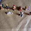 8 mini teddy ornaments