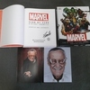 marvel year by year visual guide, signed by stan lee.