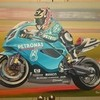 various original motorbike paintings