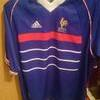 World Cup 98 Retro France Home Shirt Size Large