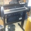Plotter ... laptop ... and heat press with loads of vinyl
