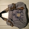 Juicy Couture grey velvet handbag