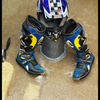 Motorcross helmet and boots