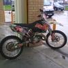 Ktm 125 sx 2006 full chrome fmf pipe