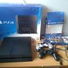 Sony PlayStation 4 (Latest Model)- 500 GB Jet Black Console 3 games 2 Controllers warranty receipt