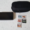 nintendo 3ds black with case and games
