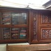 Superb arts and crafts oak secretair bookcase