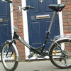 Folding bike (Foldadway by Tiger) shiny bike.