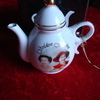 golden jubilee mini  tea pot in box
