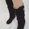 genuine faux suede boots size 5