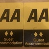 "2 X AA. GUEST ACCOMMODATION SIGNS. ""METAL"""