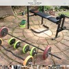 Weight bench - weights and bars - swap for metal detector