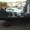 Bat boat lookalike large hp outboard used for charity fundraising