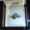 Diamond solitaire valentines engagement ring 3.5ct white gold certificate, bmw Mercedes Audi ask me