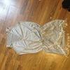 Grey tasseled dress size 10