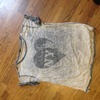 Grey river island top size 12