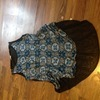 Blue patterned top size 12