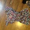 Ladies purple patterned. Blouse size 14
